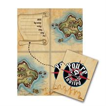Pirate Map Party Invitations | Invites