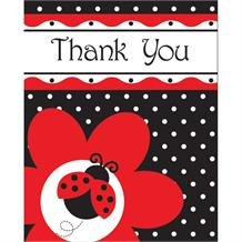 Ladybird Fancy Party Thank You Cards