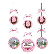 Heart My Horse Party Hanging Swirl Decorations