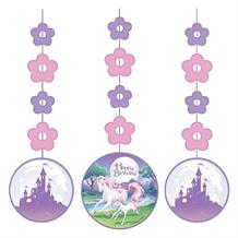 Unicorn Fantasy Party Hanging Swirls l Decorations