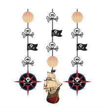 Pirate Map Party Hanging Swirl Decorations