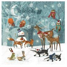Winter Forest Scene Christmas Party Napkins | Serviettes