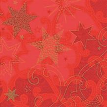 Stars are Shining Red Christmas Party Napkins | Serviettes