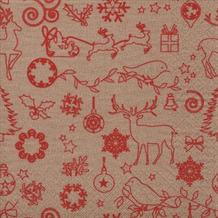 Kraft Paper Red Christmas Party Napkins | Serviettes
