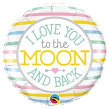 "I Love you to the Moon and Back Baby Shower 18"" Foil 