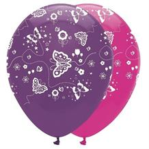 Butterfly Sparkle Party Latex Balloons