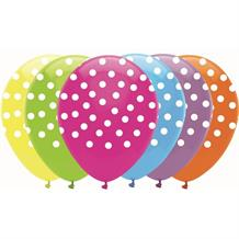 Bright Polka Dot Party Latex Balloons