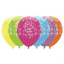 Bright Happy Birthday Party Latex Balloons