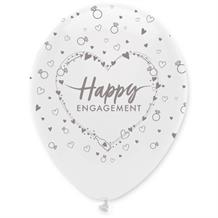 "Happy Engagement Heart 12"" Helium Quality Latex Balloons"