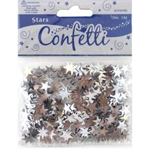 Silver Stars Party Table Confetti | Decoration