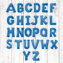 "Blue 16"" A-Z Letter Shaped Foil Balloon - Air Fill"