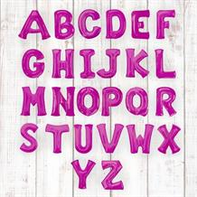 "Pink 16"" A-Z Letter Shaped Foil Balloon - Air Fill"