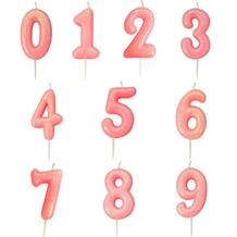 Pink Glitter Number 0-9 Birthday Cake Candle - Choose your Number(s)