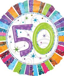 Radiant 50th Birthday Party Supplies | Balloon | Decoration | Pack
