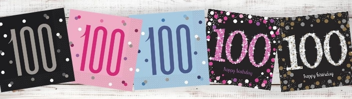 Age 100 | 100th Birthday Party Supplies | Decorations | Ideas
