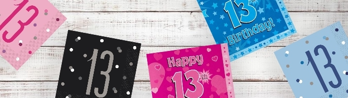 13th Birthday Party Supplies and Ideas