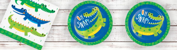 Alligator | Crocodile Party Supplies and Party Decorations plus party Ideas