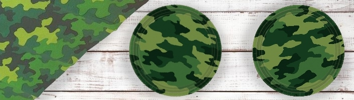 Army Camouflage Party Supplies | Balloons | Decorations | Packs
