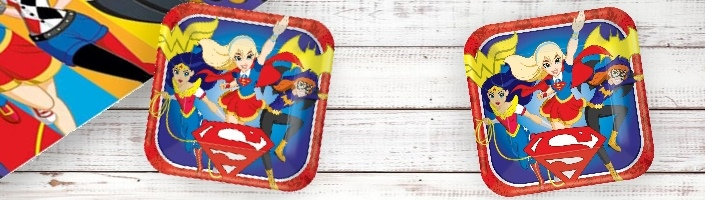 DC Super Girls Party for your Childs Party. Fantastic Tableware, Decorations, Balloons and Party Packs. FREE Standard UK Delivery when you spend £5.