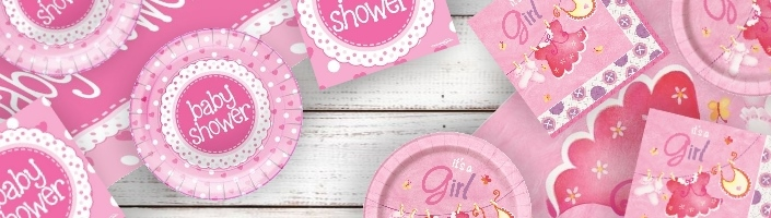 Girls Baby Shower Supplies | Decorations | Balloons | Packs | Ideas