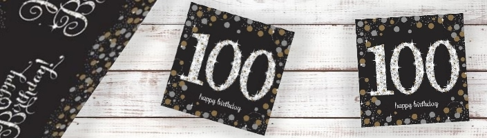 Gold Sparkle 100th Birthday Party Supplies | Balloon | Decoration | Pack