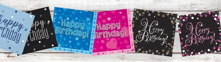 Happy Birthday | Any Age Party Supplies | Decorations | Ideas - Party Save Smile