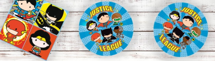 Justice League Cartoon Party Supplies | Balloons | Decorations | Packs