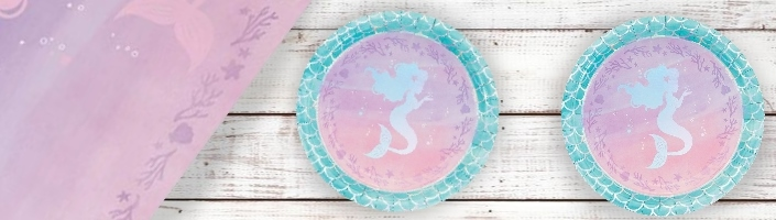Mermaid Shine Party Supplies, Packs, Decorations & Balloons