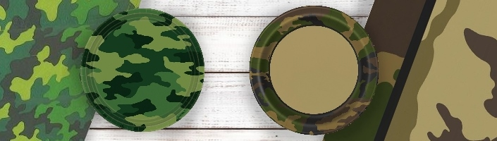 Military Camouflage Party Themed Party Supplies | Ideas