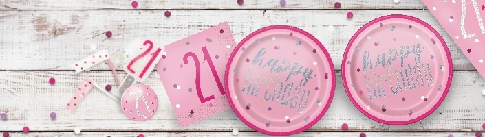 Pink Glitz 21st Birthday Party Supplies | Balloon | Decoration | Pack