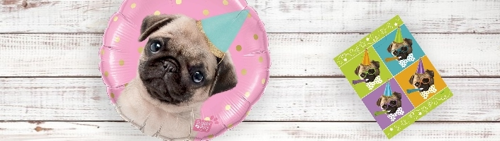 Pug Puppy Party Supplies | Decorations | Balloons