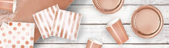Rose Gold Foil Party Supplies & Packs | Party Save Smile