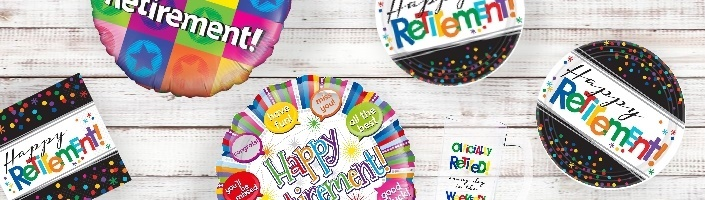 Retirement Party Supplies, Balloons & Decorations - Party Save Smile