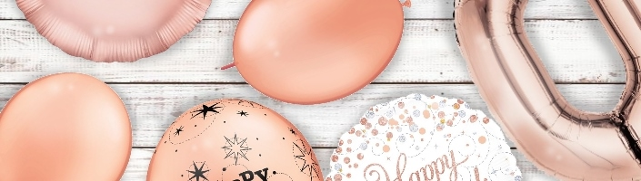 Rose Gold Coloured Party Balloons - Party Save Smile