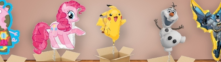 Shaped Childrens Character Balloon in a Box | Party Save Smile