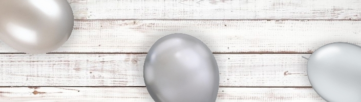 Silver Coloured Latex and Foil Balloon | Order Today