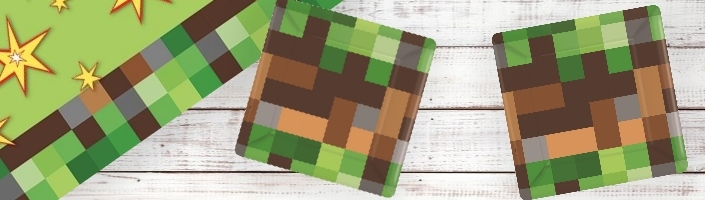 Minecraft Party Supplies, Decorations, Balloons