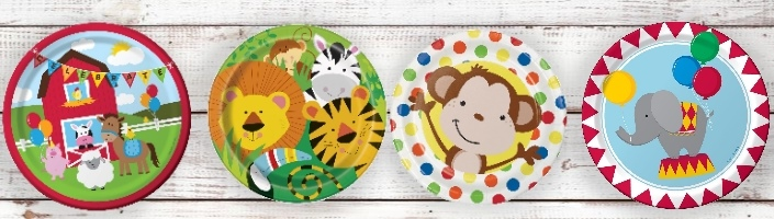 Toddler Themed Party Supplies | Packs | Ideas
