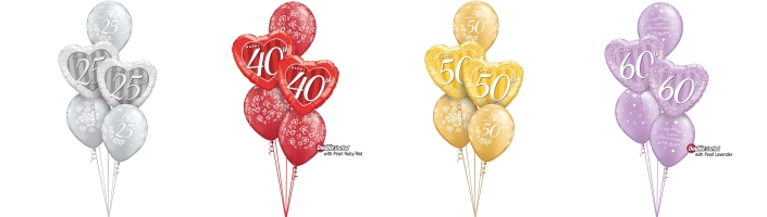 Ready Inflated Wedding Anniversary Balloon Bouquets | Party Save Smile