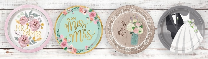 Wedding Tableware Supplies | Decorations | Ideas - Party Save Smile