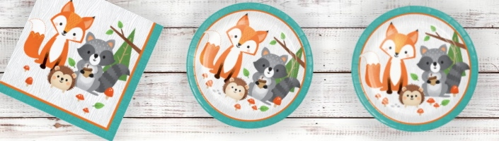 Wild Woodland Animal Party Supplies | Decorations | Balloons