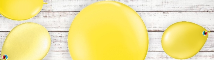Yellow Coloured Latex and Foil Balloon | Order Today