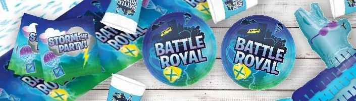 Battle Royal | Gaming Party Supplies | Balloons | Decorations | Packs