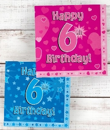 6th Birthday | Age 6 Party Supplies | Decorations | Ideas