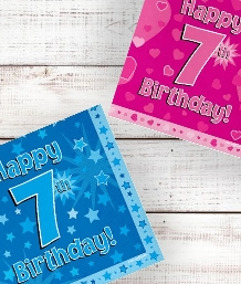 7th Birthday | Age 7 Party Supplies | Decorations | Ideas