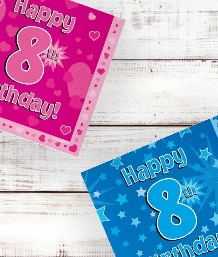 8th Birthday | Age 8 Party Supplies | Decorations | Ideas