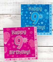 9th Birthday | Age 9 Party Supplies | Decorations | Ideas
