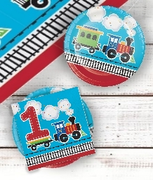 All Aboard Train 1st Birthday Party Supplies | Decorations