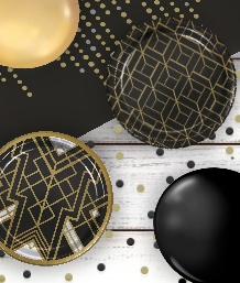 Art Deco | 1920's Party Supplies | Tablecover | Plates | Balloons