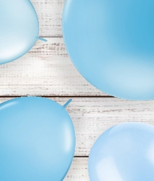 Baby Blue Coloured Latex and Foil Balloon | Order Today